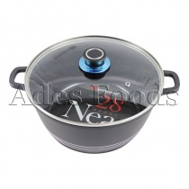 Professional Cookware Black Die-Cast Pot 28Cm