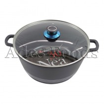Professional Cookware Black Die-Cast Pot 30Cm