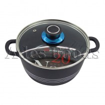 Professional Cookware Black Die-Cast Pot 20Cm