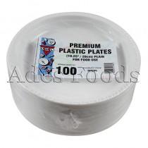 """Plain Plastic Plates 10"""" X 100Pcs"""