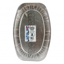 "Aluminium Serving Platters 22"" Oval Pack 2"