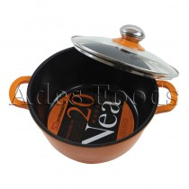 Professional Cookware Die-Cast Pot Orange 20cm