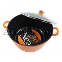 Professional Cookware Die-Cast Pot Orange 30cm